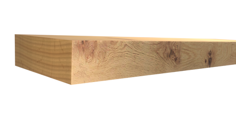 Profile View of Standard Size 1x3 Knotty Alder Boards - $2.04/ft sold by American Wood Moldings