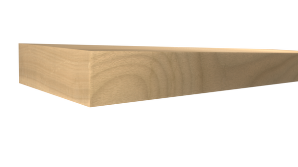 Profile View of Standard Size 1x3 Soft Maple Boards - $2.68/ft sold by American Wood Moldings
