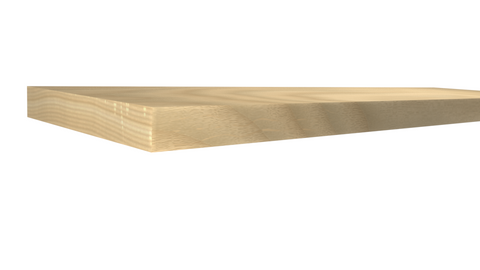Profile View of Standard Size 1x6 Ash Boards - $3.52/ft sold by American Wood Moldings