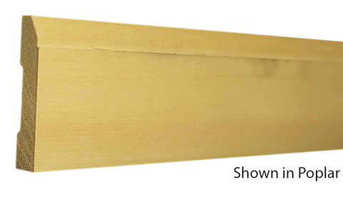 "Profile view of base molding, product number BA230 7/16""x2-7/8"" Clear Pine $0.84/ft. sold by American Wood Moldings"