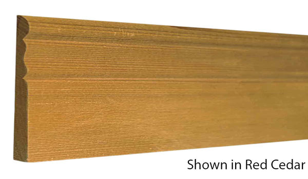 "Profile view of base molding, product number BA320 5/16""x3-1/8"" Clear Pine $3.84/ft. sold by American Wood Moldings"