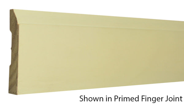 "Profile view of base molding, product number BA335 7/16""x3-1/4"" Primed Finger Joint $0.68/ft. sold by American Wood Moldings"