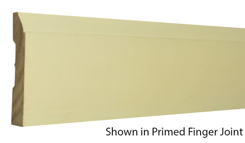 "Profile View of Base Molding, product number BA-308-014-1-PF - 7/16"" x 3-1/4"" Primed Finger Joint Base - $0.76/ft sold by American Wood Moldings"