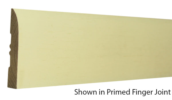 "Profile view of base molding, product number BA340 9/16""x3-1/4"" Primed Finger Joint $0.92/ft. sold by American Wood Moldings"