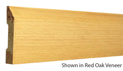 "Profile View of Base Molding, product number BA-308-016-3-ROV - 1/2"" x 3-1/4"" Red Oak Veneer Base - $1.32/ft sold by American Wood Moldings"