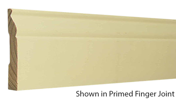 "Profile view of base molding, product number BA425 9/16""x4-1/4"" Primed Finger Joint $1.00/ft. sold by American Wood Moldings"