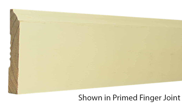 "Profile view of base molding, product number BA430 9/16""x4-1/4"" Primed Finger Joint $1.04/ft. sold by American Wood Moldings"