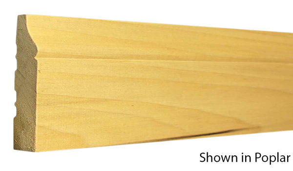 "Profile View of Base Molding, product number BA-500-024-1-PO - 3/4"" x 5"" Poplar Base - $2.04/ft sold by American Wood Moldings"