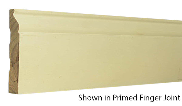 "Profile view of base molding, product number BA540 9/16""x5-1/4"" Primed Finger Joint $1.24/ft. sold by American Wood Moldings"