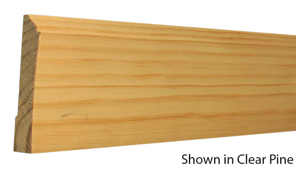 "Profile view of base molding, product number BA550 9/16""x5-1/4"" Clear Pine $1.92/ft. sold by American Wood Moldings"