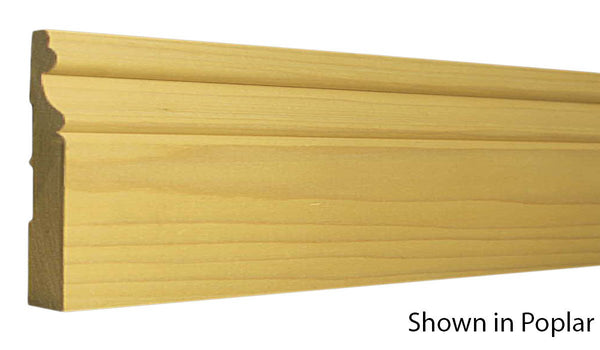 "Profile view of base molding, product number BA555 11/16""x5-1/4"" Poplar $2.16/ft. sold by American Wood Moldings"