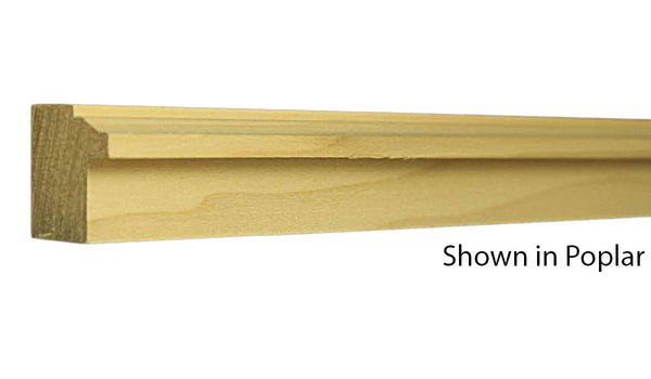 "Profile view of backband molding, product number BB108 1""x1-5/32"" Poplar $1.20/ft. sold by American Wood Moldings"
