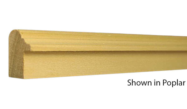 "Profile view of backband molding, product number BB116 7/8""x1-5/16"" Poplar $1.36/ft. sold by American Wood Moldings"