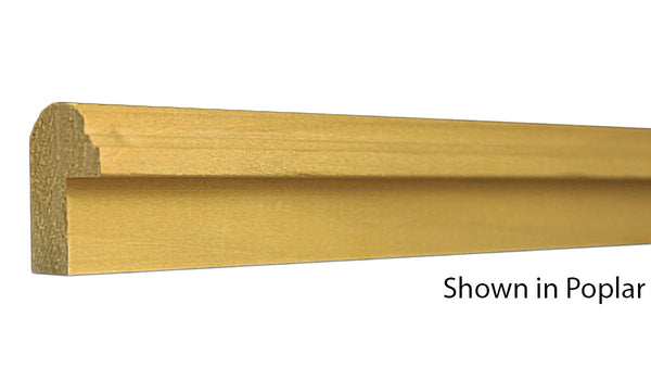"Profile view of backband molding, product number BB123 15/16""x1-7/16"" Poplar $0.92/ft. sold by American Wood Moldings"