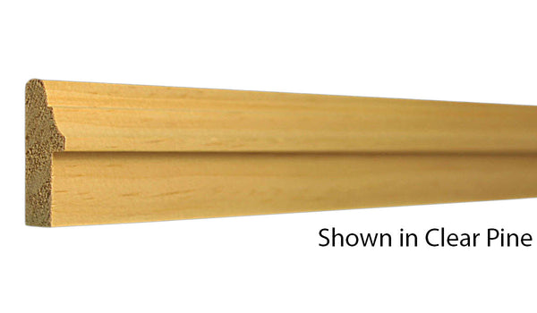 "Profile view of backband molding, product number BB142 11/16""x1-9/16"" Clear Pine $0.72/ft. sold by American Wood Moldings"