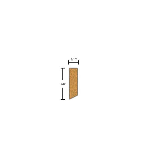 "Side View of Decorative Carved Molding, product number DC-020-006-1-BE - 3/16"" x 5/8"" Beech Decorative Carved Molding - $2.76/ft sold by American Wood Moldings"