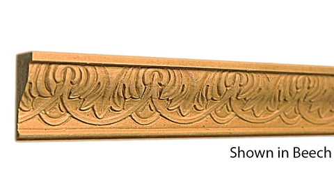 "Profile View of Decorative Embossed Molding, product number DE-116-026-1-BE - 13/16"" x 1-1/2"" Beech Decorative Embossed Molding - $4.16/ft sold by American Wood Moldings"