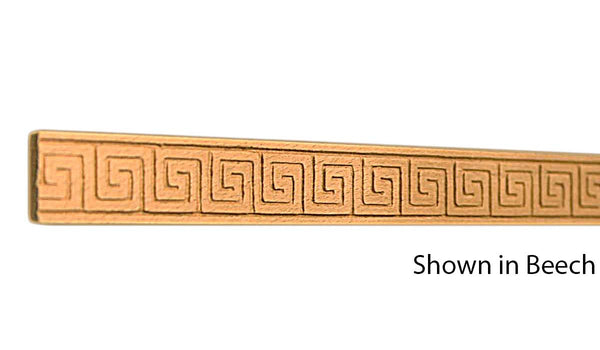 "Profile View of Decorative Embossed Molding, product number DE-024-008-9-BE - 1/4"" x 3/4"" Beech Decorative Embossed Molding - $1.96/ft sold by American Wood Moldings"