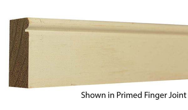 "Profile View of Brick Molding Molding, product number BM-200-102-1-PF - 1-1/16"" x 2"" Primed Finger Joint Brick Molding - $1.57/ft sold by American Wood Moldings"