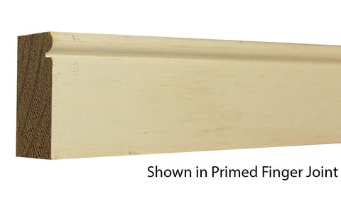 "Profile view of brick molding, product number BM210 Beaded Brick Molding 1-1/16""x2"" Primed Finger Joint $1.40/ft. sold by American Wood Moldings"