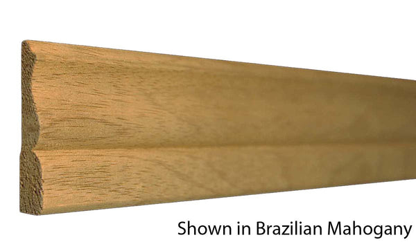 "Profile View of Casing Molding, product number CA-208-014-2-BMH - 7/16"" x 2-1/4"" Brazilian Mahogany Casing - $4.32/ft sold by American Wood Moldings"
