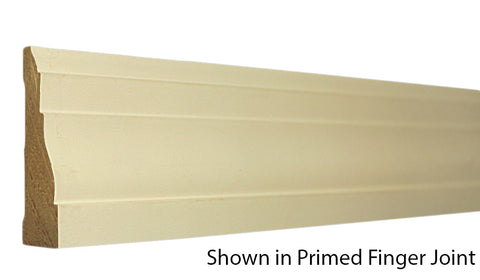 "Profile View of Casing Molding, product number CA-208-022-3-PF - 11/16"" x 2-1/4"" Primed Finger Joint Casing - $0.72/ft sold by American Wood Moldings"