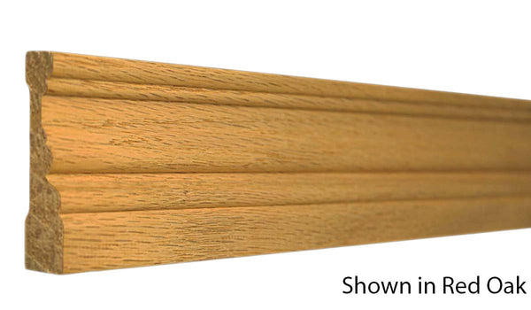 "Profile View of Casing Molding, product number CA-208-022-4-RO - 11/16"" x 2-1/4"" Red Oak Casing - $1.92/ft sold by American Wood Moldings"