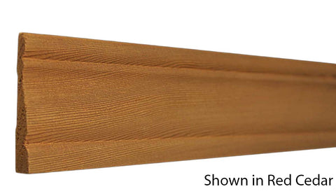 "Profile View of Casing Molding, product number CA-216-014-1-CE - 7/16"" x 2-1/2"" Red Cedar Casing - $3.60/ft sold by American Wood Moldings"