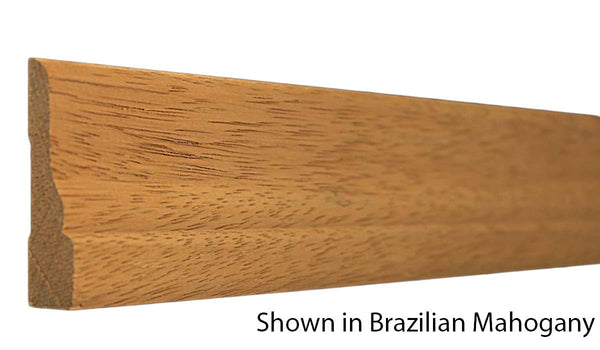 "Profile View of Casing Molding, product number CA-216-020-3-BMH - 5/8"" x 2-1/2"" Brazilian Mahogany Casing - $4.80/ft sold by American Wood Moldings"