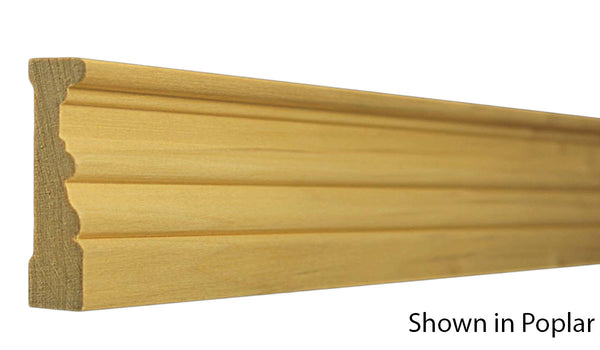 "Profile View of Casing Molding, product number CA-224-024-3-PO - 3/4"" x 2-3/4"" Poplar Casing - $1.72/ft sold by American Wood Moldings"