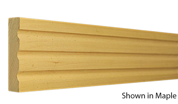 "Profile View of Casing Molding, product number CA-300-024-4-MA - 3/4"" x 3"" Maple Casing - $3.04/ft sold by American Wood Moldings"