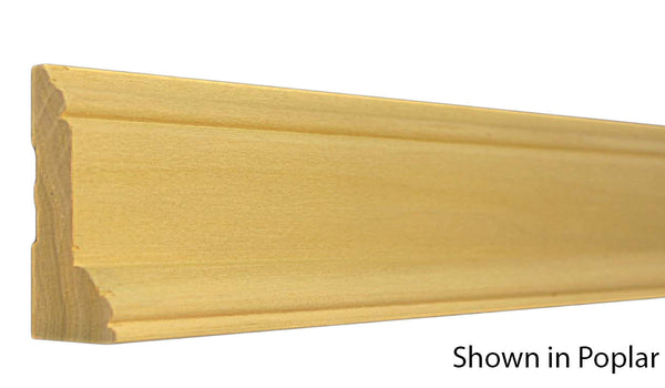 "Profile View of Casing Molding, product number CA-300-104-1-PO - 1-1/8"" x 3"" Poplar Casing - $2.80/ft sold by American Wood Moldings"