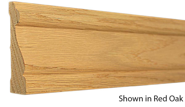 "Profile View of Casing Molding, product number CA-310-026-1-WO - 13/16"" x 3-5/16"" White Oak Casing - $4.00/ft sold by American Wood Moldings"