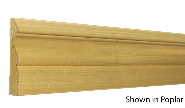 "Profile View of Casing Molding, product number CA-316-024-4-PO - 3/4"" x 3-1/2"" Poplar Casing - $1.48/ft sold by American Wood Moldings"