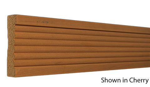 "Profile View of Casing Molding, product number CA-316-024-7-CH - 3/4"" x 3-1/2"" Cherry Casing - $3.92/ft sold by American Wood Moldings"