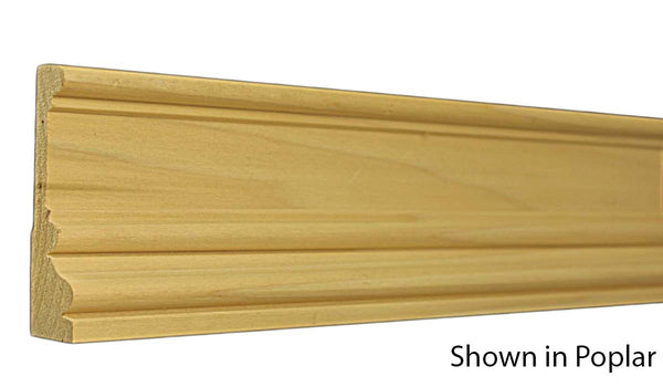 "Profile View of Casing Molding, product number CA-316-102-1-RO - 1-1/16"" x 3-1/2"" Red Oak Casing - $3.50/ft sold by American Wood Moldings"