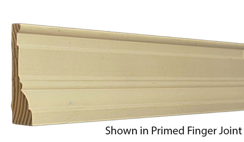 "Profile View of Casing Molding, product number CA-316-104-1-PF - 1-1/8"" x 3-1/2"" Primed Finger Joint Casing - $2.87/ft sold by American Wood Moldings"