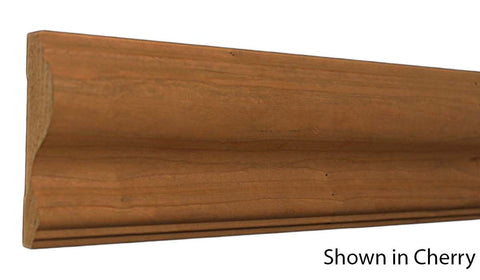 "Profile View of Chair Rail Molding, product number CH-316-104-1-AS - 1-1/8"" x 3-1/2"" Ash Chair Rail - $3.48/ft sold by American Wood Moldings"