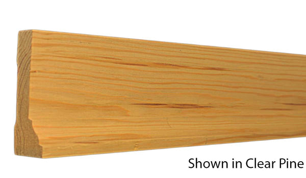 "Profile View of Casing Molding, product number CA-408-104-1-CP - 1-1/8"" x 4-1/4"" Clear Pine Casing - $3.56/ft sold by American Wood Moldings"