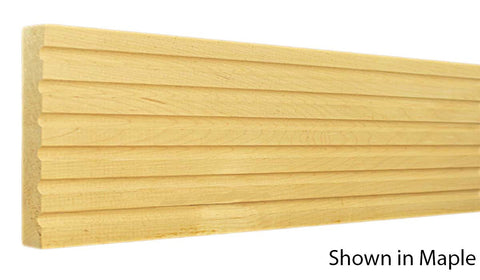 "Profile View of Casing Molding, product number CA-602-024-1-CH - 3/4"" x 6-1/16"" Cherry Casing - $7.00/ft sold by American Wood Moldings"
