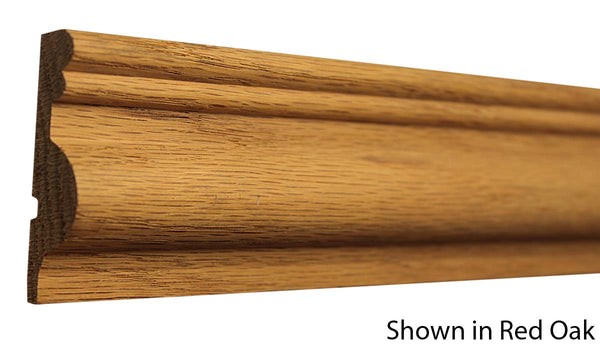 "Profile View of Chair Rail Molding, product number CH-218-020-1-RO - 5/8"" x 2-9/16"" Red Oak Chair Rail - $2.36/ft sold by American Wood Moldings"