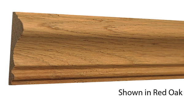 "Profile View of Chair Rail Molding, product number CH-220-020-2-RO - 5/8"" x 2-5/8"" Red Oak Chair Rail - $2.40/ft sold by American Wood Moldings"
