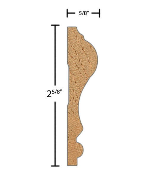 "CH255 5/8""x2-5/8"" Poplar $1.52/ft.   American Wood Moldings sold by American Wood Moldings"