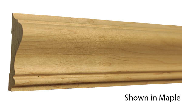 "Profile View of Chair Rail Molding, product number CH-220-022-2-MA - 11/16"" x 2-5/8"" Maple Chair Rail - $3.16/ft sold by American Wood Moldings"