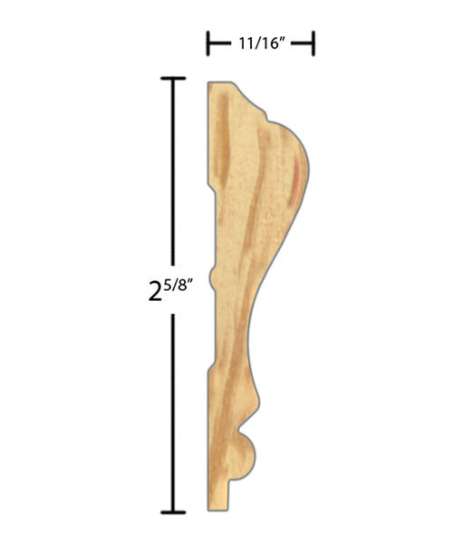 "CH265 11/16""x2-5/8"" Clear Pine $1.48/ft.   American Wood Moldings sold by American Wood Moldings"