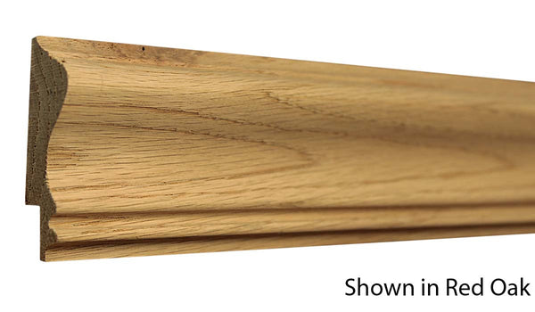 "Profile View of Chair Rail Molding, product number CH-220-024-2-RO - 3/4"" x 2-5/8"" Red Oak Chair Rail - $2.40/ft sold by American Wood Moldings"