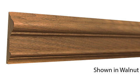 "Profile View of Chair Rail Molding, product number CH-224-022-1-WA - 11/16"" x 2-3/4"" Walnut Chair Rail - $6.88/ft sold by American Wood Moldings"
