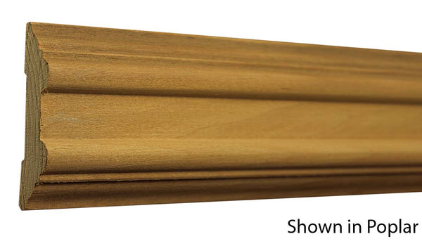 "Profile View of Chair Rail Molding, product number CH-300-024-1-PO - 3/4"" x 3"" Poplar Chair Rail - $1.72/ft sold by American Wood Moldings"