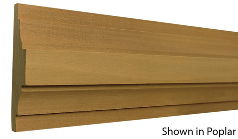 "Profile View of Chair Rail Molding, product number CH-516-101-1-PO - 1-1/32"" x 5-1/2"" Poplar Chair Rail - $5.24/ft sold by American Wood Moldings"
