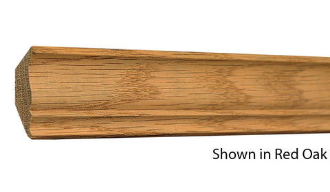 "Profile view of crown molding, product number CR130 5/8""x1-5/8"" Cherry $2.04/ft. sold by American Wood Moldings"